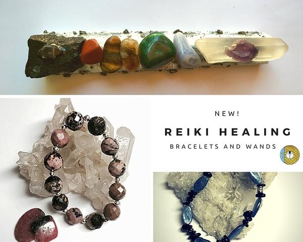 reiki healing bracelets and wands